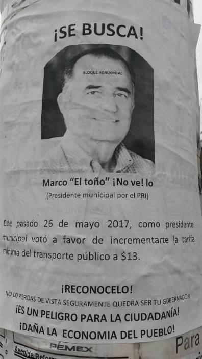 """Presidente Municipal Marco """"el toño"""" Novelo, acusado de traidor por la ciudadanía"""