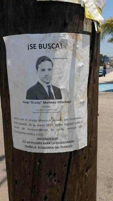 Regidor Jorge Emilio Martínez, acusado de traidor por la ciudadanía
