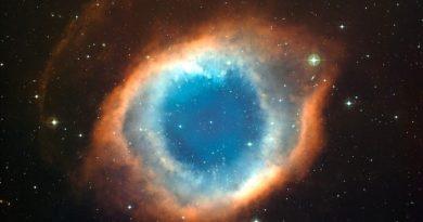 La nebulosa planetaria HuBi1 que una explosión estelar volteó al revés