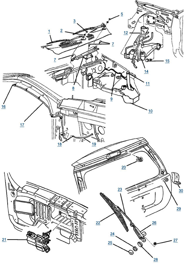 windshield wipers wiring diagram 1994 jeep grand cherokee