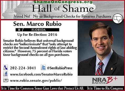 Marco Rubio Position on Gun Control Makes Him Unfit for Florida