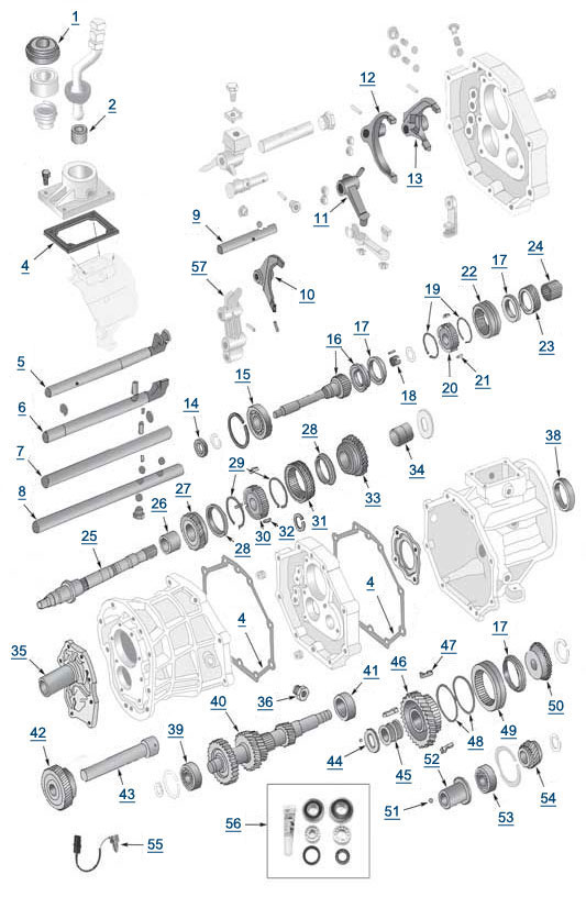 [Exploded View 2000 Jeep Wrangler Manual Transmission