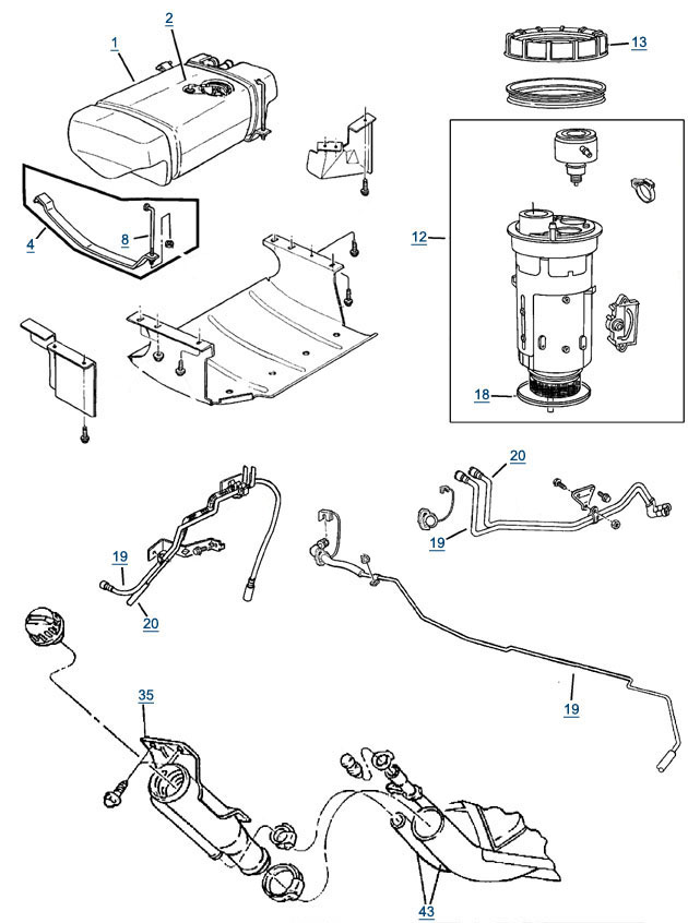 98 jeep fuel system diagram