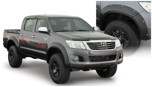 small resolution of bushwacker toyota hilux pocket style fender flare set paintable 31929 02