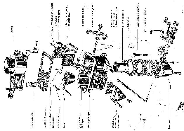 foto e especificações do carburador OHC 2.3 solex.