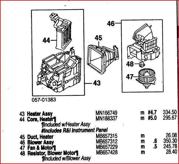 Ventilador do Ar condicionado da Pajero GLS-B