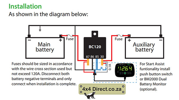 12 Volt Starter Relay Wiring Diagrams Hbc Dual Battery Monitor