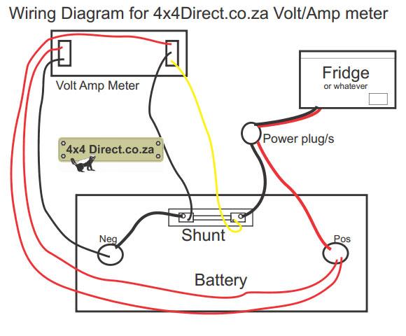 Ammeter Gauge Wiring Diagram Volt Amp Meter With Shunt