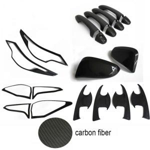 ABS Exterior Carbon fiber Cover Trim Kits For Toyota Fortuner 2016-2017