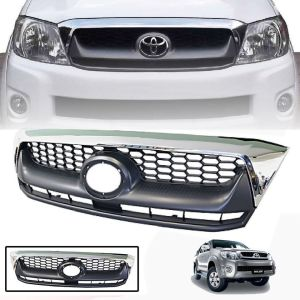CHROME GREY FRONT GRILLE GRILL FIT FOR TOYOTA HILUX VIGO MK6 2009 10 11