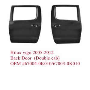 Hilux vigo 2005-2012 back door (Double cab)