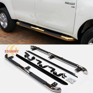 3″Stainless Steel Side Step With Curve For Hilu Revo M80 M70 SR5