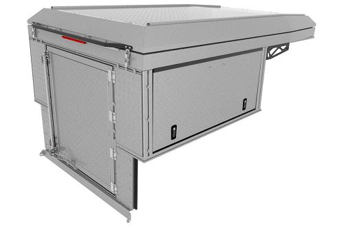 Canopy Camper Basic DC Silver Treadplate (2)
