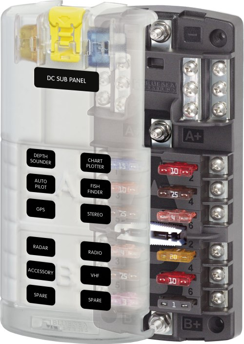 small resolution of  blade fuse block blue sea st 5032