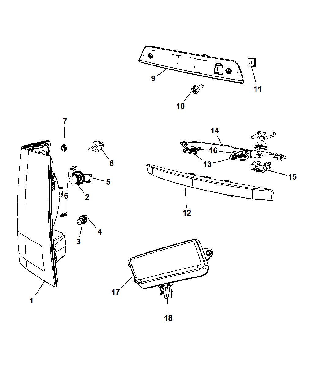 Licence Lamp Lense Plate Left Side