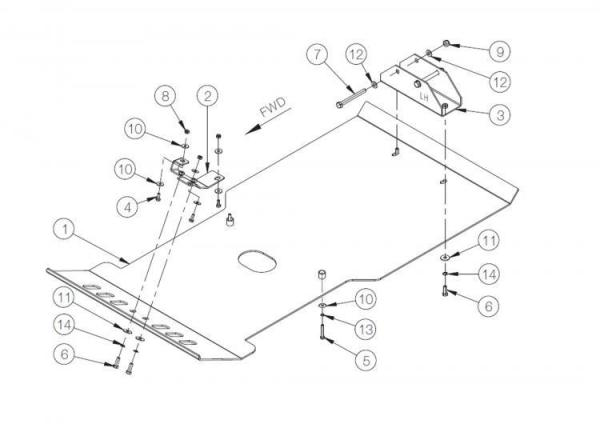 Product: Skidplate engine and transmision Toyota LC120