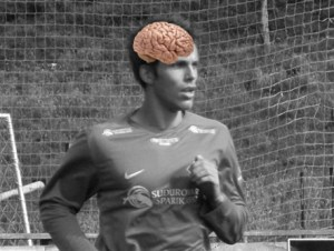 Warm up your brain for football (and go and see a physio if it's sticking out of the side of your head)