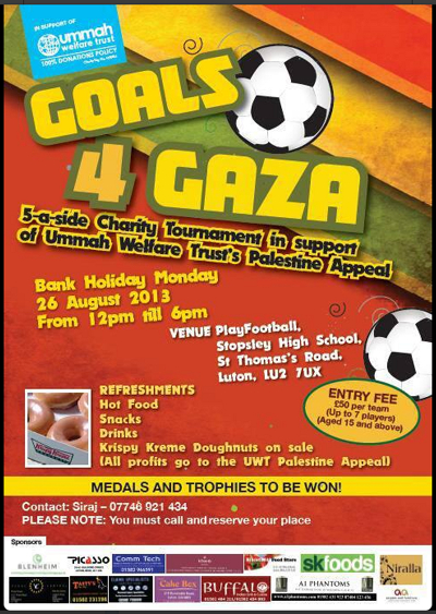 Goals 4 Gaza Flyer