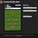 Lineupbuilder.com screenshot. Use this tool to make good looking teams, such as this dodgy 6-a-side team.