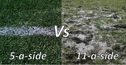 5-a-side pitch vs 11-a-side