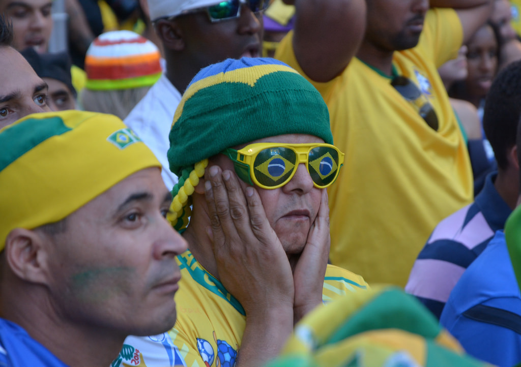 Brazil fans watch World Cup quarterfinal