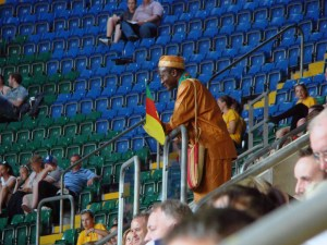 Sadly the Cameroon fans didn't have much to celebrate