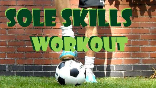 5-a-side skills with sole, football, soccer, futsal