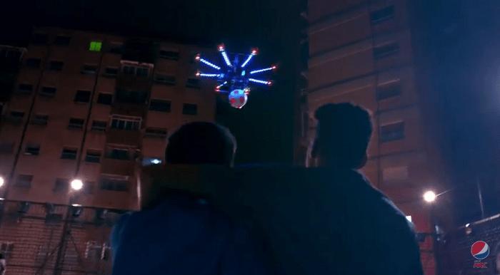 Drone Football Pepsi 5-a-side ball