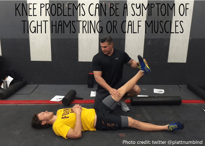 tight hamstring calfs knee injury