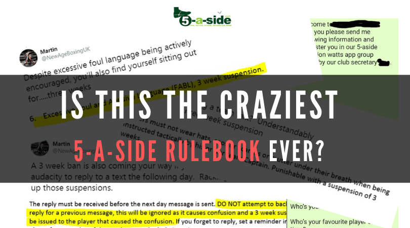Craziest 5-a-side rulebook handbook article
