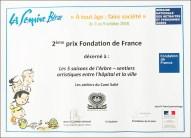 """Le prix de la Semaine Bleue (Prix de la Fondation de France) décerné au projet """"Les 5 Saisons de l'Arbre"""""""