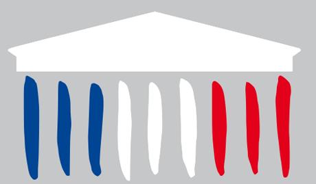 Détail du logo de l'Assemblée nationale
