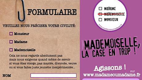 """Détail de l'affiche de la campagne """"Mademoiselle, la case en trop !"""""""