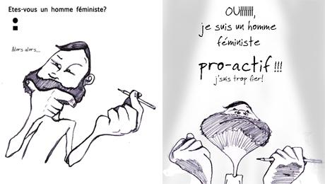 Féministe pro-actif (détail) © Emilie Kennedy