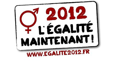 """Logo de la campagne """"2012, l'égalité maintenant !"""""""
