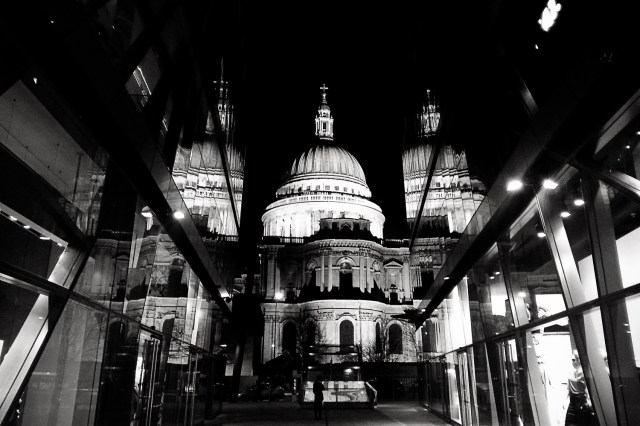 St. Paul's Cathedral by night, London