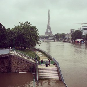 Seine level peaked at 6,2m today.