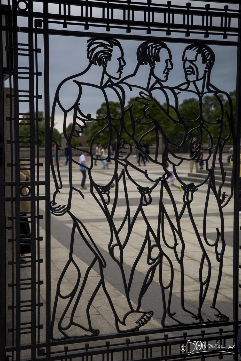 Oslo - Vigeland Park - gate