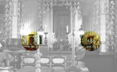 Hariti (left) and Mahakala idols