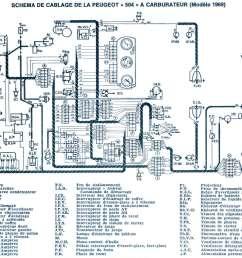electrical scheme of the 1969 benzin 504 with carburetor 330ko  [ 1773 x 1325 Pixel ]