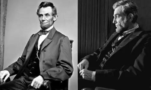Abraham Lincoln e Daniel Day Lewis encarnando o ex-presidente: 12 indicações para o Oscar