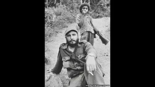Esta fotografia de Fidel Castro também estava entre as leiloadas na Inglaterra