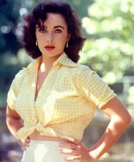 Elizabeth Taylor em foto de 1957: uma das mais belas