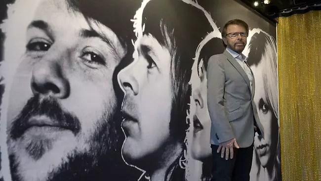 Bjorn Ulvaeus, um dos ex-membros do grupo sueco na abertura do museu