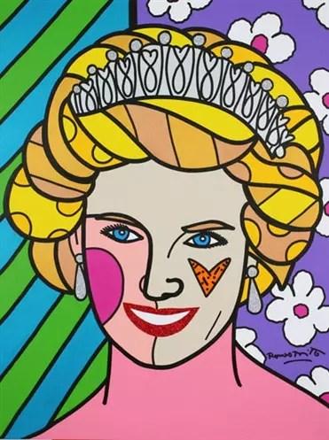 Assim o artista retratou a princesa Diana