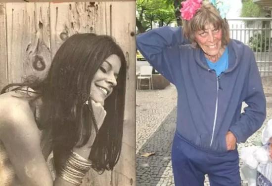 Na juventude e hoje: Anamaria Carvalho, que já foi casada com Marcos Valle
