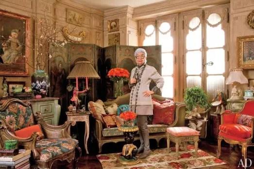 No apartamento onde vive com o marido, em Nova York