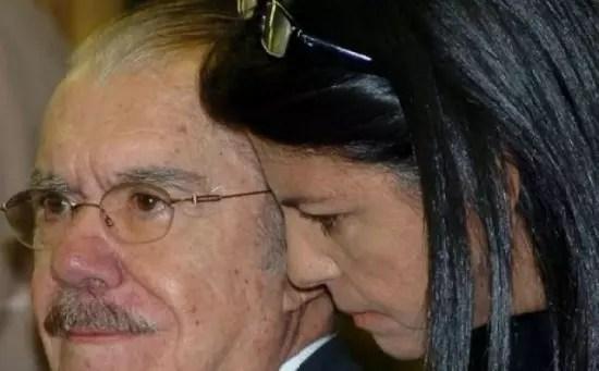 Sarney com a filha, Roseana, atual governadora do Maranhão