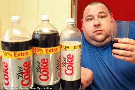 Muita gente acha que por ser diet podem beber litros de refrigerantes