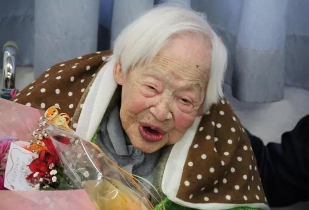 A japonesa é a que vive mais. Misao Okawa é oficialmente a mulher mais velha do mundo